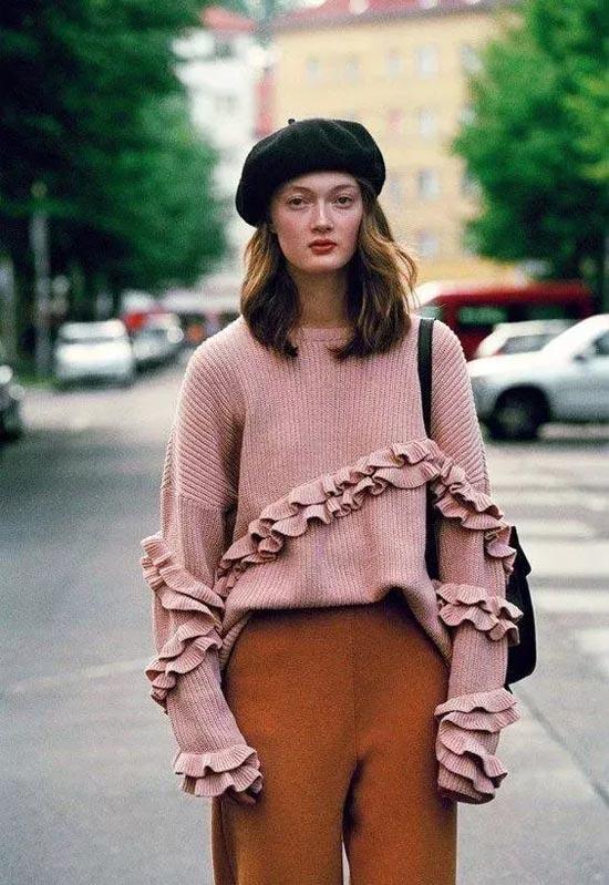 艾丽哲 别人穿宽毛衣是慵懒风 为啥你一穿就臃肿?