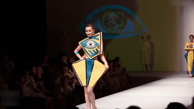 色彩斑斓,笑容甜美,看看中国未来的服装设计新星