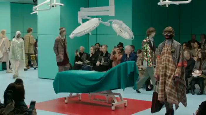 画风怪异的Gucci,手术室直接搬上来!网友:太惊悚