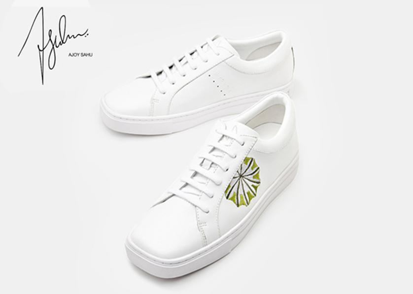 宋佳同款首发 Ajoy Sahu时尚白色运动鞋
