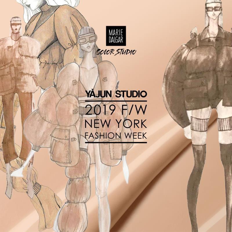 YAJUN STUDIO携手玛丽黛佳色彩工作室2019秋冬纽约时装周玩转跨界